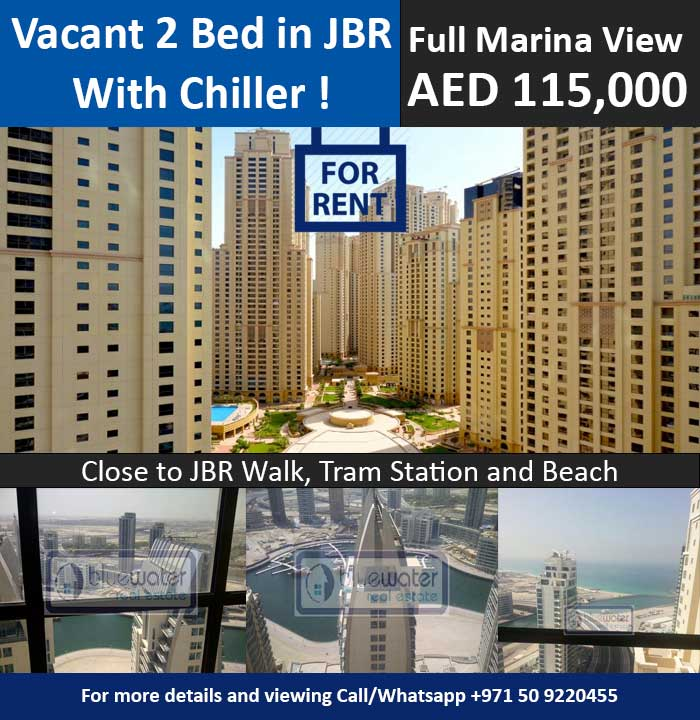 Cheap Apartments For Rent Dubai: 2 Bedroom Apartment For Rent In JBR With Full Marina View